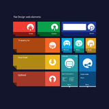 Graphic user interface flat design vector Stock Photo