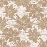 Graphic vanilla pattern Royalty Free Stock Image