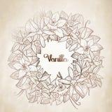 Graphic vanilla wreath Stock Image