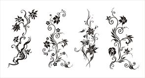 Graphic vector abstract  flower ornament Royalty Free Stock Photos