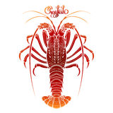 Graphic vector crayfish Stock Photography
