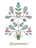 Graphic vector flowers in flowerpot Royalty Free Stock Photos