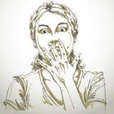 Graphic vector hand-drawn illustration of white skin impressed l Stock Photo