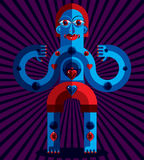 Graphic vector illustration, anthropomorphic character  Stock Photo