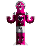 Graphic vector illustration, anthropomorphic character  Royalty Free Stock Photography