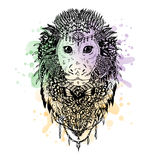 Graphic vector monkey abstract design Royalty Free Stock Photos