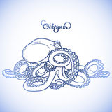Graphic vector octopus Royalty Free Stock Photos