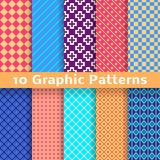 Graphic vector seamless patterns (tiling) Royalty Free Stock Image