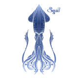 Graphic vector squid Royalty Free Stock Image