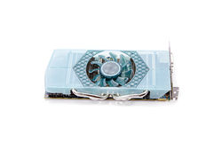 Graphic Video Card. A powerful graphics card on a white background Royalty Free Stock Photography