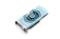 Graphic Video Card. A powerful graphics card on a white background Royalty Free Stock Photos