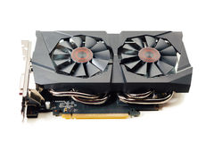 graphic video card on white Royalty Free Stock Images