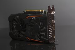 Graphic videocard for crypto currency mining and computer game Stock Photo
