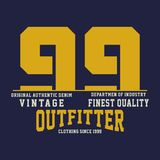 Graphic vintage finest quality. For shirt and print Stock Photography
