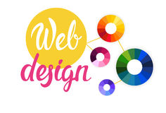 Graphic Web Design Creative Banner Stock Photos