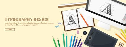 Graphic web design. Drawing and painting. Development. Illustration, sketching, freelance. User interface. UI. Computer. Graphic web design. Drawing and painting stock illustration
