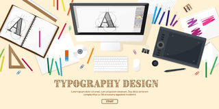 Graphic web design. Drawing and painting.   Stock Image