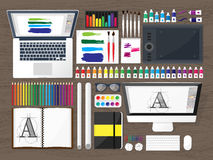 Graphic web design. Drawing and painting.   Royalty Free Stock Photos