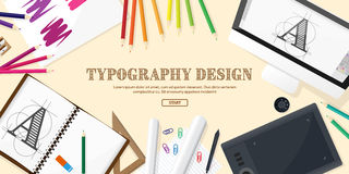 Graphic web design. Drawing and painting.   Royalty Free Stock Images
