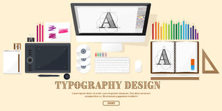 Graphic web design. Drawing and painting.   Stock Photo