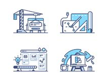 Graphic and web design icons. Graphic and web design. Drawing and programming interface. Pixel perfect 256px, vector line icons, illustrations Stock Image