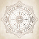 Graphic wind rose compass Royalty Free Stock Photo