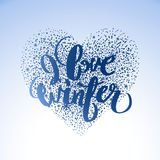 Graphic winter heart Stock Images