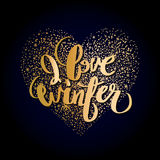 Graphic winter heart Royalty Free Stock Photos