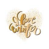 Graphic winter heart Stock Photo