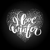 Graphic winter heart Royalty Free Stock Photo