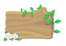 Wood and flower, vector Stock Photo
