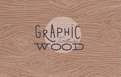 Graphic wood texture brown. Wood graphic texture drawing with grey lines on brown background Stock Photo