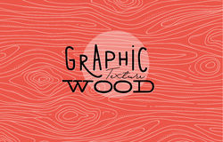 Graphic wood texture coral Stock Photos