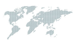 Graphic world map of green round dot on white Royalty Free Stock Photography