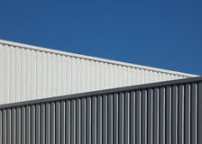 Graphical architecture. Graphical image of a modern warehouse (sRGB Stock Photo