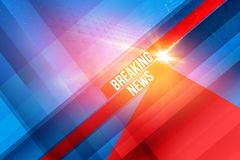 Graphical breaking news background concept series. Graphical breaking news background with diagonal-vertical lines and lens flare effect. 3d illustration royalty free illustration
