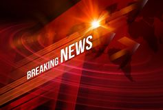 Breaking News background Concept Series. Graphical Breaking News Background with news text, Red Theme Background with White Breaking News royalty free illustration