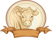 Graphical bull Royalty Free Stock Images