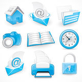 Graphical business elements Stock Images