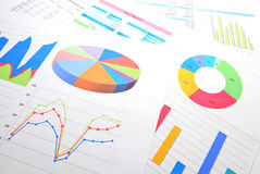 Graphical chart analysis. Close up Royalty Free Stock Image