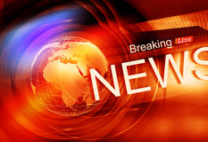 Graphical Colorful Live Breaking News Background Concept Series Stock Photography