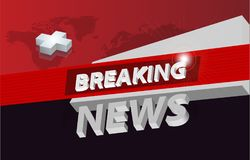 Graphical 3d breaking news background concept series. Graphical 3d breaking news background , tv news design concept Stock Image