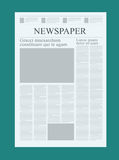 Graphical design newspaper template, highlighting figures and testimonials vector mock up of a blank daily newspaper Royalty Free Stock Photos