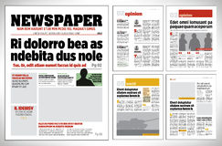 Graphical design newspaper template Royalty Free Stock Image