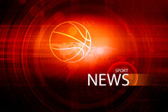 Graphical digital sport news background with news text Concept S Stock Photos