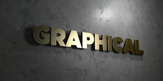 Graphical - Gold text on black background - 3D rendered royalty free stock picture Royalty Free Stock Photo