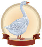 Graphical goose Royalty Free Stock Image