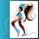 Graphical illustration with a dancer woman 10 Royalty Free Stock Photos