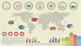 A graphical interface of the economy Stock Images