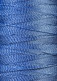 Texture of blue  thread in spool Royalty Free Stock Photos